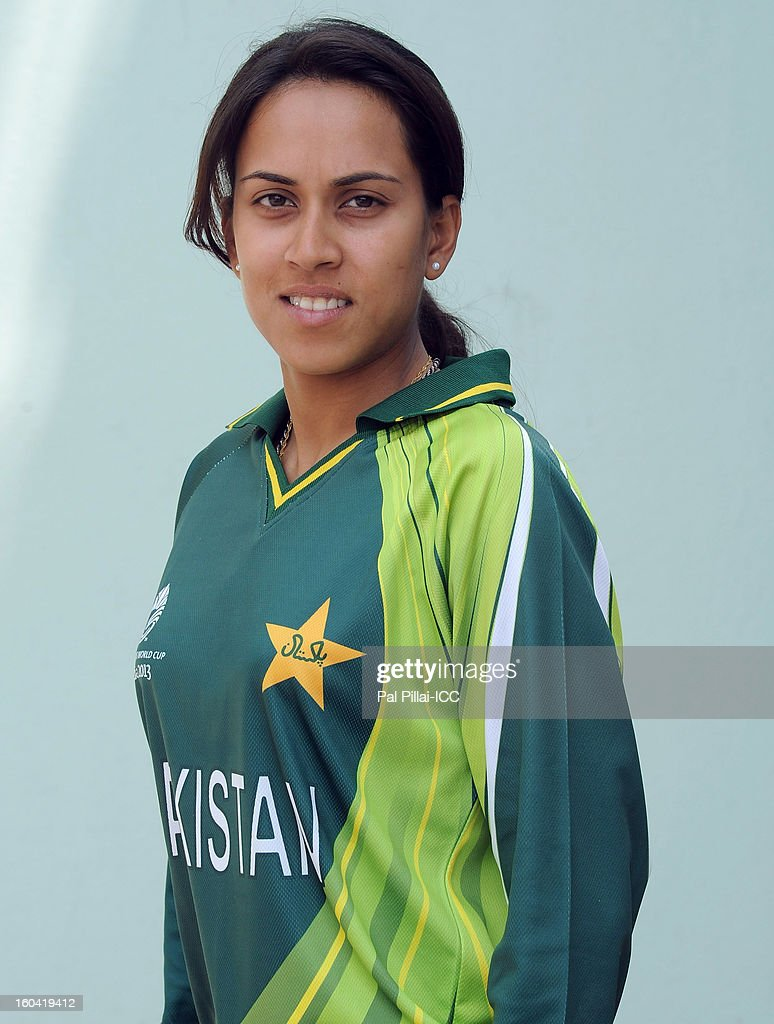Nain Abidi of Pakistan attends a portrait session ahead of the ICC Womens World Cup 2013 at the Barabati stadium on January 31, 2013 in Cuttack, India.