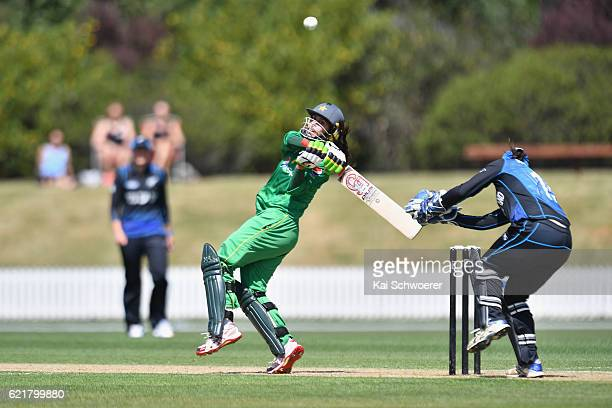 Nain Abidi of Pakistan bats during the Women's One Day International match between the New Zealand White Ferns and Pakistan on November 9 2016 in...