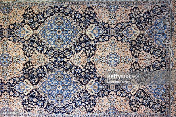 nain iranian rug - persian rug stock photos and pictures
