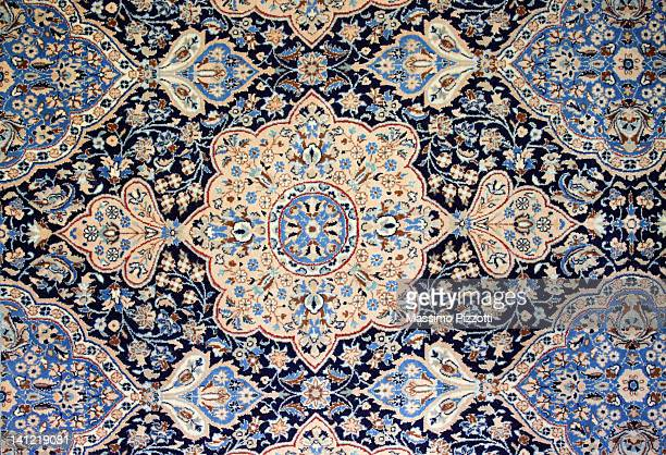nain iranian rug - persian culture stock photos and pictures