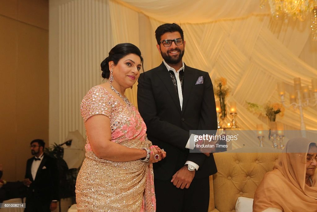 Engagement Ceremony Of Former Haryana Chief Minister's Grandson And Hisar MP Dushyant Chautala : News Photo