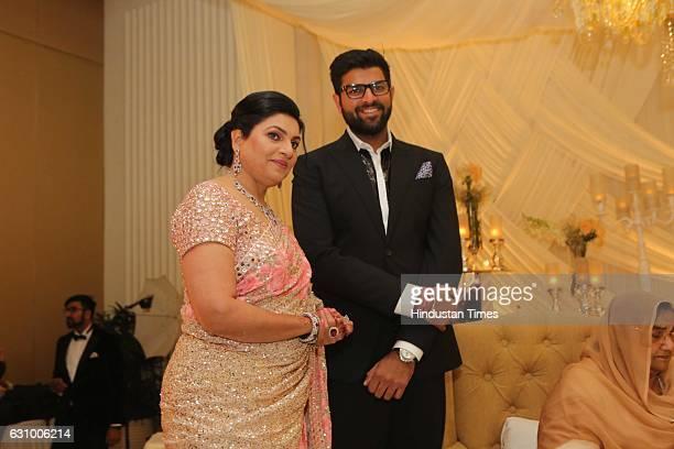 Naina Chautala and Digvijay Chautala during an engagement ceremony of Hisar MP Dushyant Chautala and Meghna Ahlawat on January 3 in Gurgaon India...