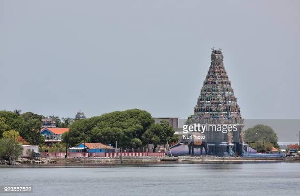 Nainativu Nagapooshani Amman Hindu Temple along the Palk straight on Nainativu Island in the Jaffna region of Sri Lanka This ancient temple is a...