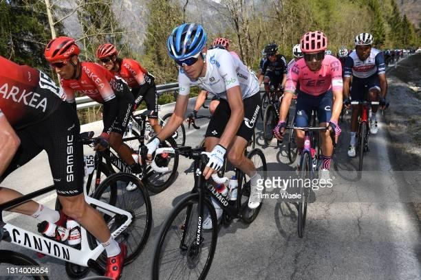 Nairo Alexander Quintana Rojas of Colombia and Team Arkéa - Samsic, Ilnur Zakarin of Russia and Team Gazprom - Rusvelo & Ruben Guerreiro of Portugal...