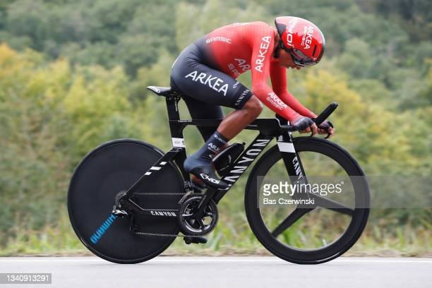 Nairo Alexander Quintana Rojas of Colombia and Team Arkéa - Samsic sprints during the 81st Skoda-Tour De Luxembourg 2021, Stage 4 a 25,4km Individual...