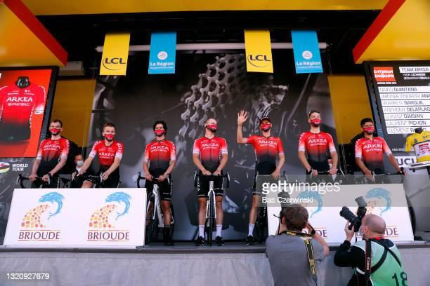 Nairo Alexander Quintana Rojas of Colombia, Anrew Anacona Winner of Colombia, Warren Barguil of France, Anthony Delaplace of France, Lukasz Owsian of...