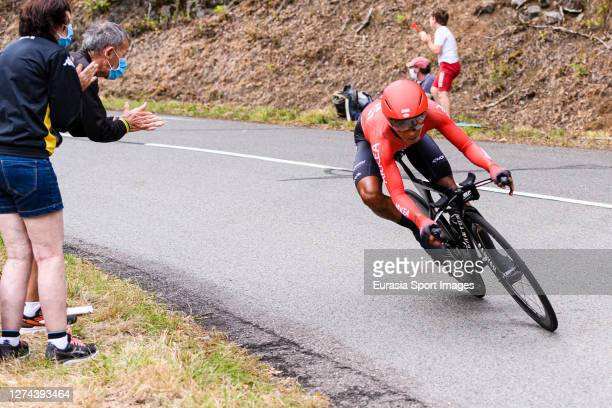 Nairo Quinatana of Colombia - Team Arkea - Samsic during his Individual Time-Trial of Stage 20 on September 19, 2020 in Plancher Bas, France.