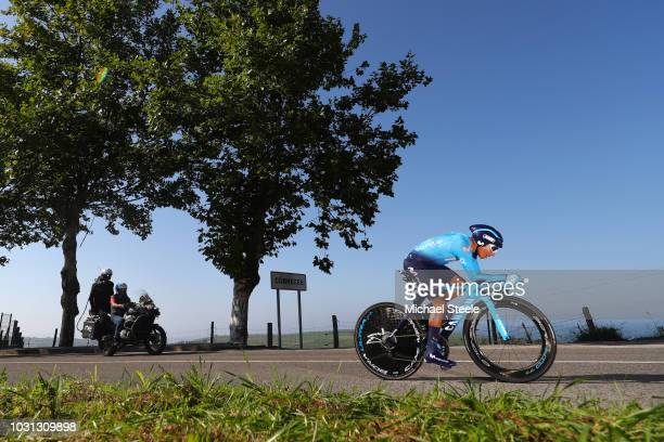 Nairo Quintana of Colombia and Movistar Team / Cobreces Village / Cantabrico sea / during the 73rd Tour of Spain 2018 Stage 16 a 32km Individual Time...