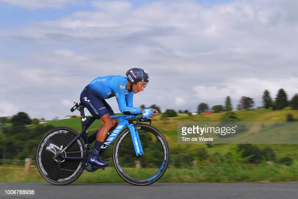 Nairo Quintana of Colombia and Movistar Team / during the 105th Tour de France 2018, Stage 20 a 31km Individual Time Trial stage from...