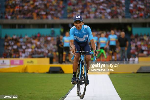 Nairo Quintana of Colombia and Movistar Team / during the 2nd Tour of Colombia 2019 Team Presentation / Atanasio Girardot Stadium / @TourColombiaUCI...