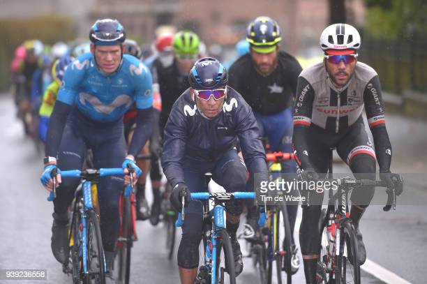 Nairo Quintana of Colombia and Movistar Team / during the 73rd Dwars door Vlaanderen 2018 a 1801km race from Roeselare to Waregem on March 28 2018 in...