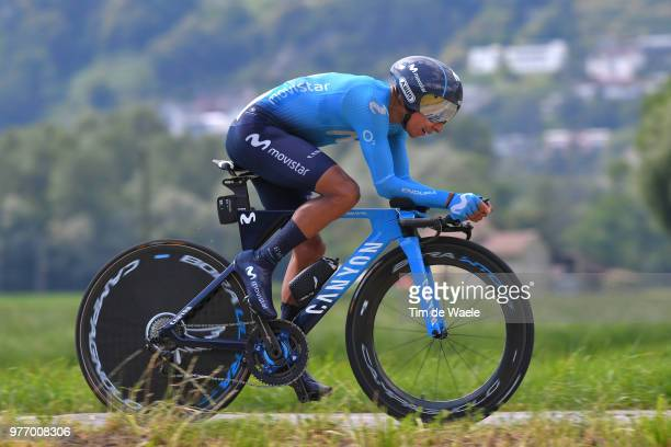 Nairo Quintana of Colombia and Movistar Team / during the 82nd Tour of Switzerland 2018 Stage 9 a 341km individual time trial stage from Bellinzona...