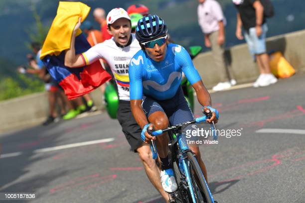 Nairo Quintana of Colombia and Movistar Team / Fans / Public / during the 105th Tour de France 2018, Stage 17, a 67km stage from Bagneres-de-Luchon...