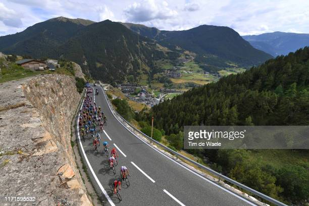 Nairo Quintana of Colombia and Movistar Team Green Points Jersey / Nicolas Edet of France and Team Cofidis Solutions Credits Red Leader Jersey /...