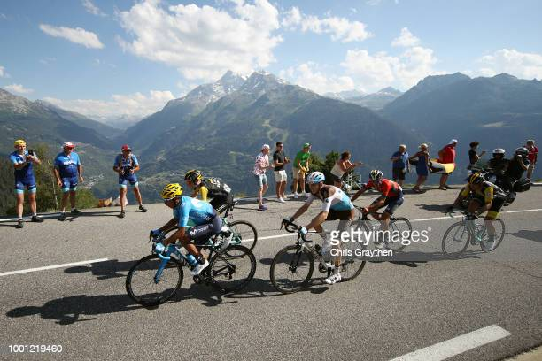 Nairo Quintana of Colombia and Movistar Team / Romain Bardet of France and Team AG2R La Mondiale / Vincenzo Nibali of Italy and Bahrain Merida Pro...