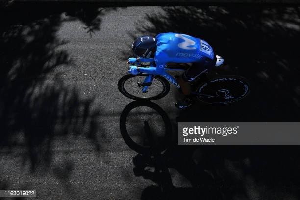 Nairo Quintana of Colombia and Movistar Team / Shadow / during the 106th Tour de France 2019 - Stage 13 a 27,2km Individual Time Trial Stage from Pau...