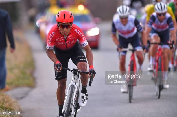 Nairo Quintana of Colombia and Team Arkea - Samsic / Richie Porte of Australia and Team Trek - Segafredo / Vincenzo Nibali of Italy and Team Trek -...