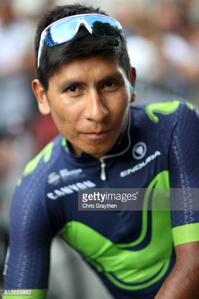 Nairo Quintana of Colombia riding for Movistar Team prepares to start stage 10 of the 2017 Le Tour de France a 178km stage from Périgueux to Bergerac...