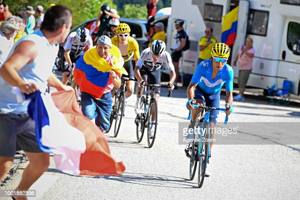 Nairo Quintana of team MOVISTAR during the stage 12 of the Tour de France 2018 on July 19 2018 in Alpe d'Huez France
