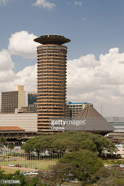 nairobi city aerial view - nairobi stock pictures, royalty-free photos & images