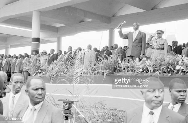Nairobi Kenya 1er mai 1997 Défilé du 1er mai en présence du président de la République Ici le président Daniel arap MOI dit Nyayo debout dans la...