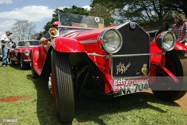 A 1932 Alfa Romeo on display during this year's 24 September 2006 East Africa Concours d' Elegance in Ngong racecourse Nairobi This annual event...