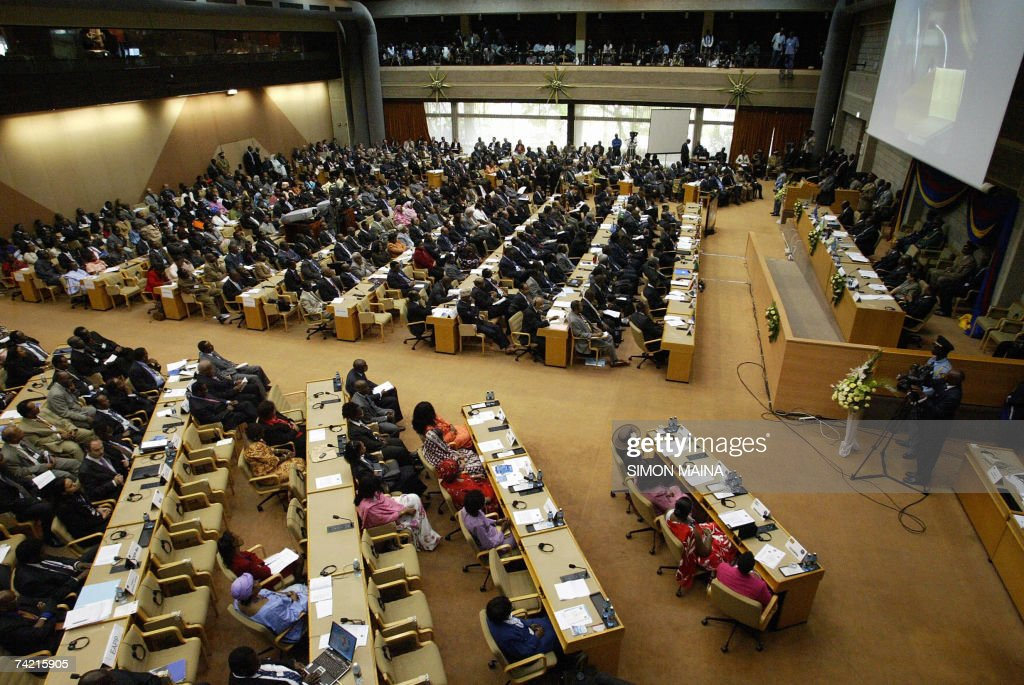 A general view taken 22 May 2007 shows the opening session of the 12th two-day summit of the Common Market for Eastern and Southern Africa (COMESA) at UN headquarters in Nairobi. The heads of state and government are due to approve important steps toward customs union, set to be launched next year, after their trade ministers last week agreed on a common external tariff deal.