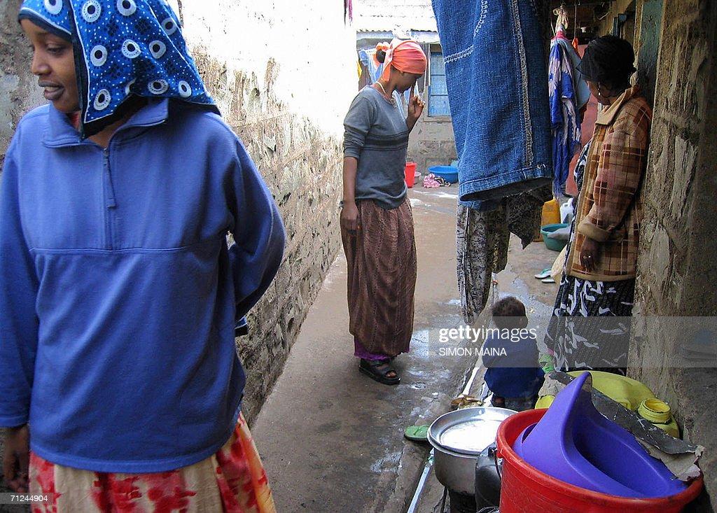 Ethiopian-Somali refugee Tchuchu Hussein who fled her