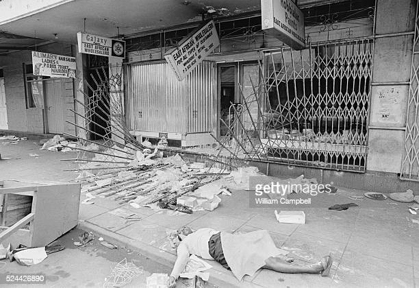 A Nairobi street after a coup to overthrow the Kenyan government failed