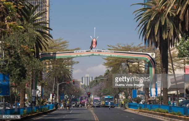 nairobi's kenyatta avenue. - nairobi stock pictures, royalty-free photos & images