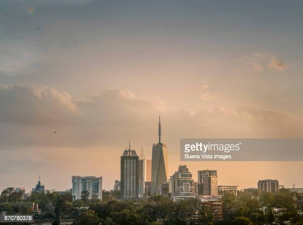 nairobi's urban development - nairobi stock pictures, royalty-free photos & images