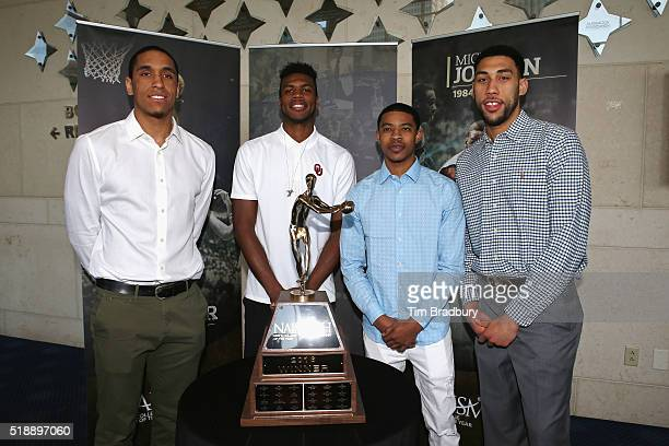 2016 Naismith College Player of the Year Finalists Malcolm Brogdon of the Virginia Cavaliers Buddy Hield of the Oklahoma Sooners Tyler Ulis of the...