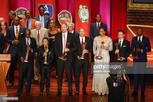Naismith Memorial Basketball Hall of Fame Class of 2018 enshrinees including Charlie Scott Dino Radja Jason Kidd Tina Thompson Steve Nash and Ray...