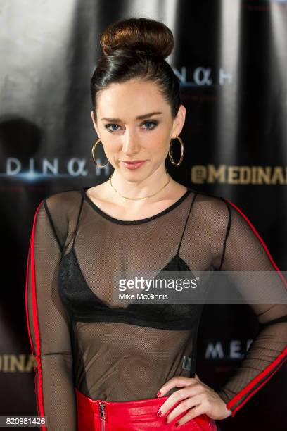 Najarra Townsend attends the International SciFi Series 'Medinah' premiere and red carpet reception at ComicCon International 2017 at The Manchester...