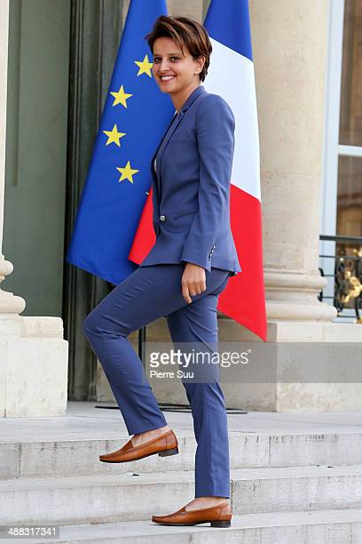 Najat VallaudBelkacem attends the state Dinner At Elysee Palace In Honor Of Japanse Prime Minister Shinzo Abe on May 5 2014 in Paris France shoe...
