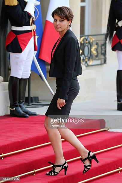 Najat VallaudBelkacem attends the State Dinner In Honor Of Sheikh Tamim Bin Hamad AlThani Emir of Qatar at Elysee Palace on June 23 2014 in Paris...