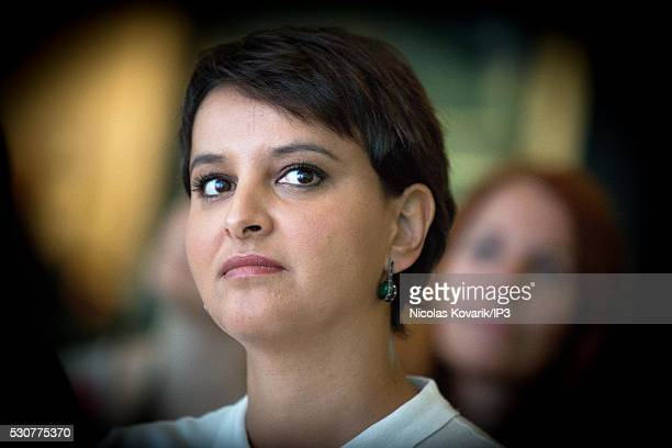 Najat VallaudBelkacem French Minister of National Education Higher Education and Research attends the awards that reward ten student winners of the...