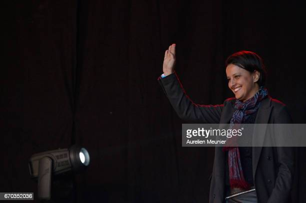 Najat VallaudBelkacem French Minister of National Education Higher Education and Research attends French Socialist Party Presidential candidate...
