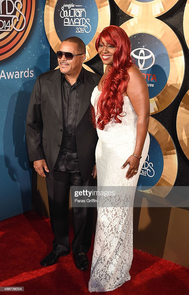 Najee and Meli'sa Morgan attend the 2014 Soul Train Music Awards at the Orleans Arena on November 7, 2014 in Las Vegas, Nevada.