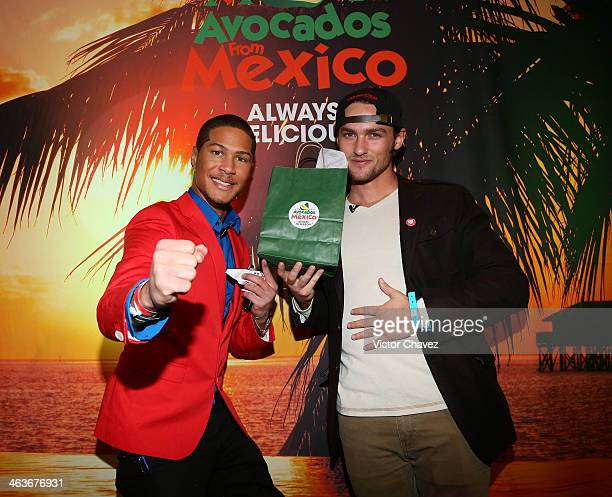 Najee Detiege and Alex Heartman attend day 2 of Avocados From Mexico Film Festival Suite on January 18 2014 in Park City Utah
