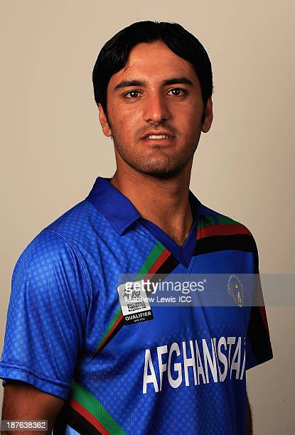 Najeebullah Zadran of Afghanistan pictured during a headshot session ahead of the ICC World Twenty20 Qualifiers on November 11 2013 in Dubai United...
