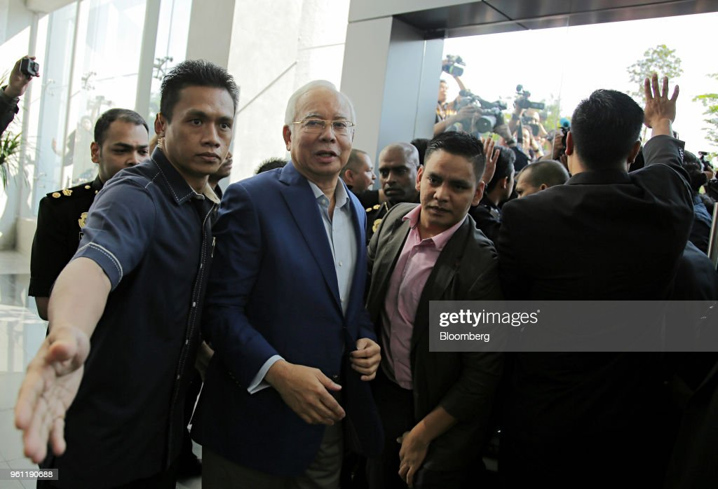 Former Malaysian Prime Minister Arrives at the Malaysian Anti-Corruption Commission to Aid Probe