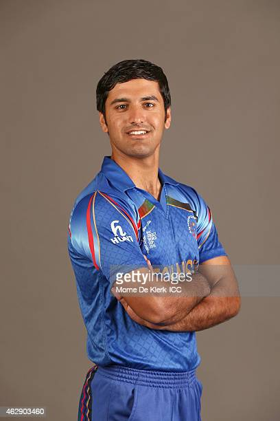 Najibullah Zadran poses during the Afghanistan 2015 ICC Cricket World Cup Headshots Session at the Intercontinental on February 7 2015 in Adelaide...