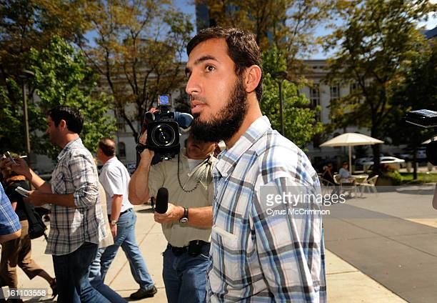 ZAZI_CM NajIbullah Zazi arrives with his lawyer for a visit to the FBI offices in downtown Denver on Thursday September 17 2009 Cyrus McCrimmon The...