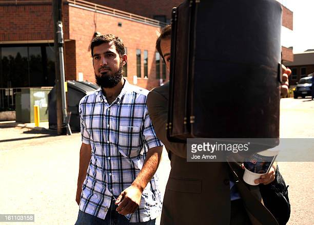 Najibullah Zazi the 24yearold airportshuttle driver leaves his attorney Art Folsom from his Denver office to speak with federal agents again at 2 pm...