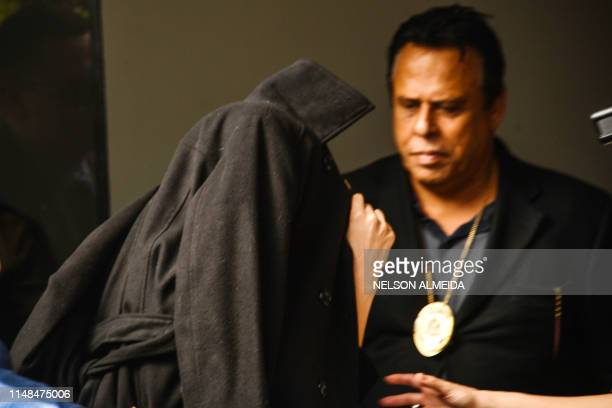 Najila Trindade Mendes de Souza arrives at the Women's Defense Precinct in Sao Paulo Brazil on June 7 2019 Trindade Mendes de Souza appeared before...