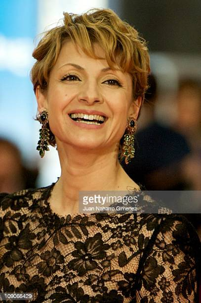 Najwa Nimri arrives to the 2011 edition of the 'Goya Cinema Awards' ceremony at Teatro Real on February 13, 2011 in Madrid, Spain.