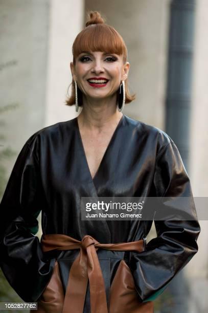 Najwa Nimri attends 'Day of Spain Gala' at Calderon Theater during 63rd Seminci International Film Week of Valladolid on October 23, 2018 in...