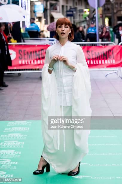Najwa Nimri attends 'Espiga de Honor' Gala during 64th Seminci International Film Week of Valladolid at Teatro Calderon on October 22, 2019 in...