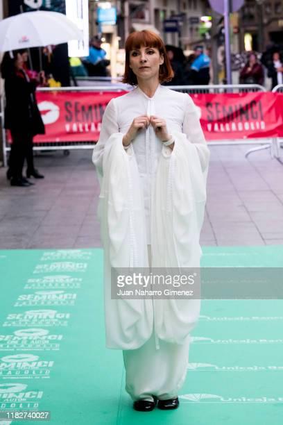 Najwa Nimri attends 'Espiga de Honor' Gala during 64th Seminci International Film Week of Valladolid at Teatro Calderon on October 22 2019 in...